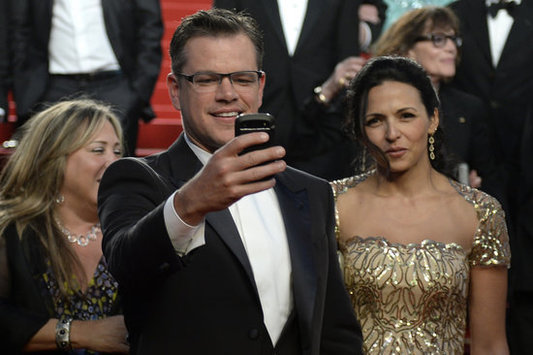 Matt Damon at Cannes wearing the Chin chin