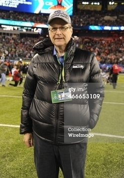 Seahawks owner,  Paul Allen wearing BEVEL